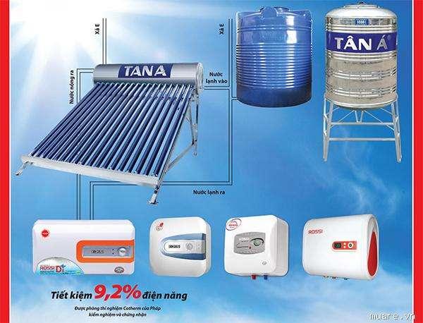 Tiết kiệm điện năng hiêu quả với bình nước nóng lạnh Tân Á